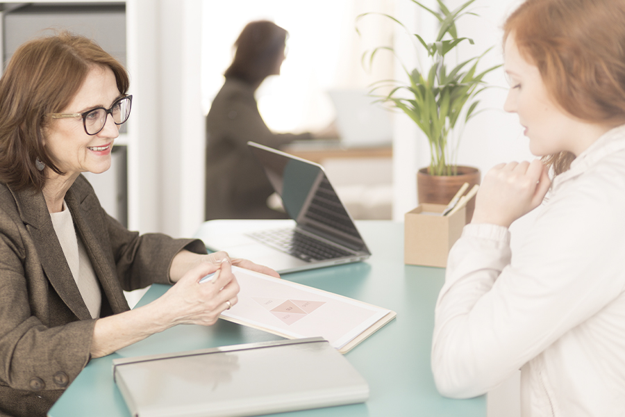Employee Assistance Plan - Professional Advisor Listening and Encouraging Employee