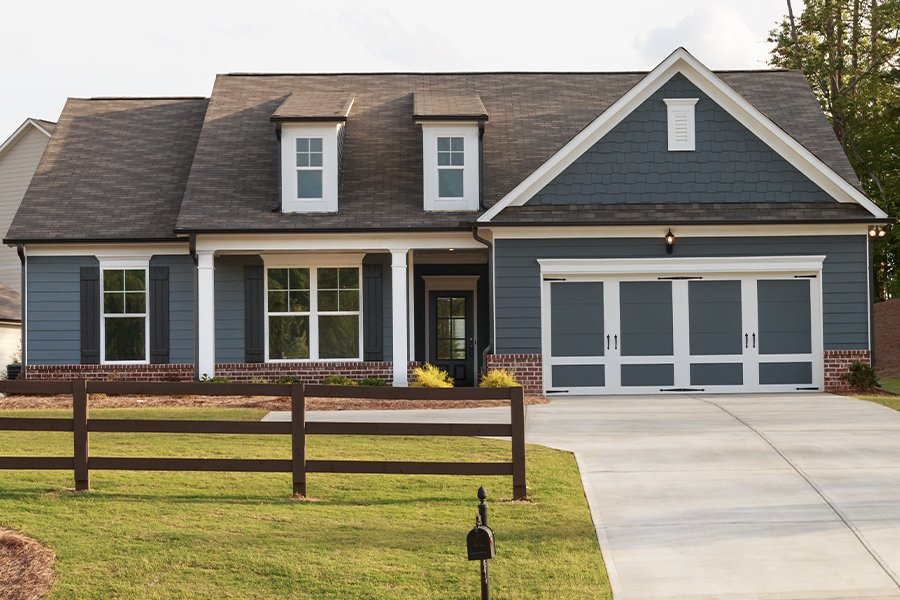 Home Insurance - A Gray Ranch Style House